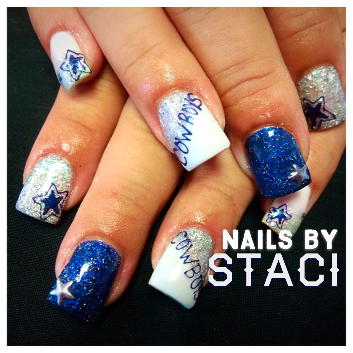 Dallas cowboy nails | Staci\'s Nail Artistry | Pinterest | Dallas ...