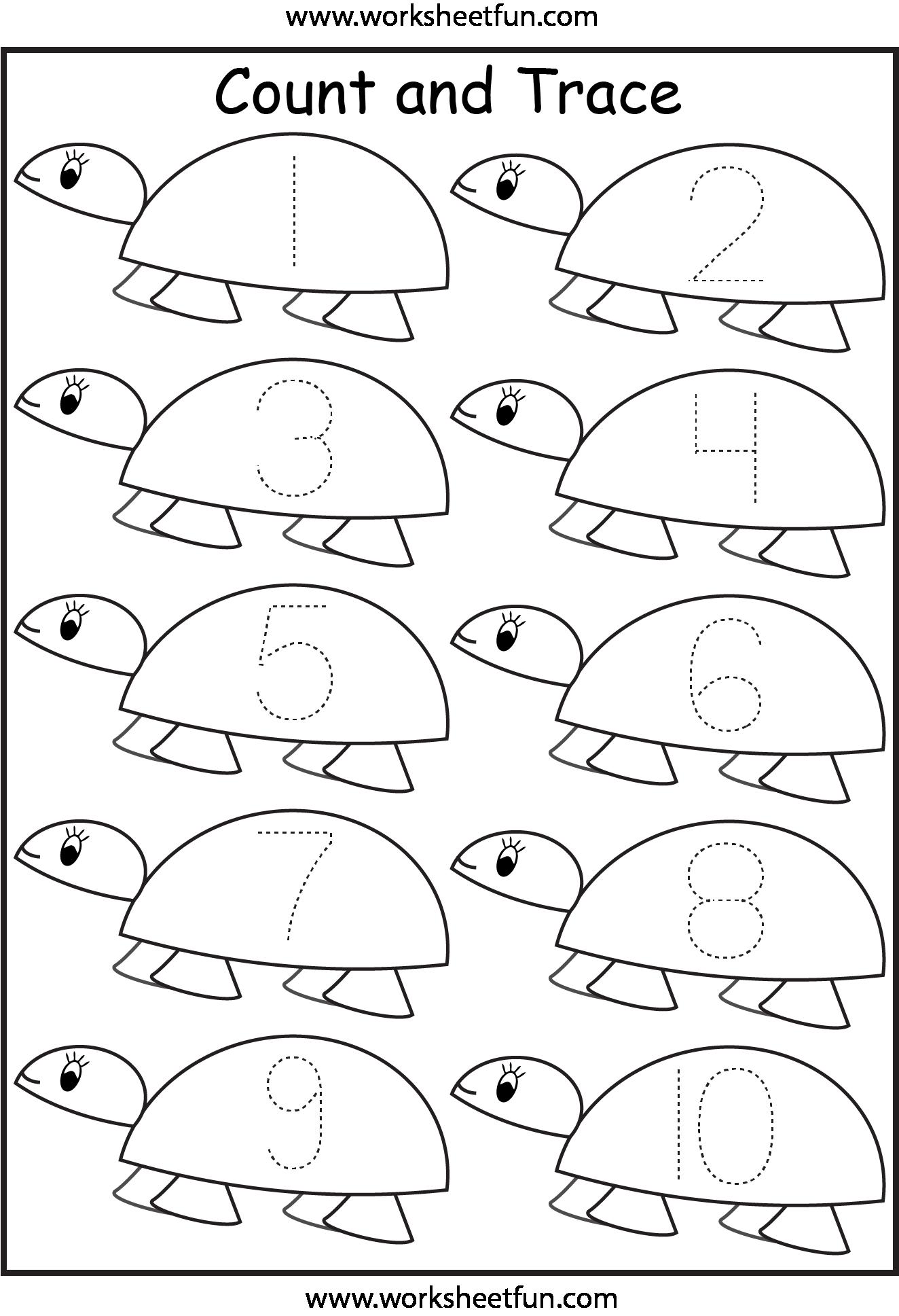 small resolution of Number Tracing – 1 Worksheet   Tracing worksheets preschool