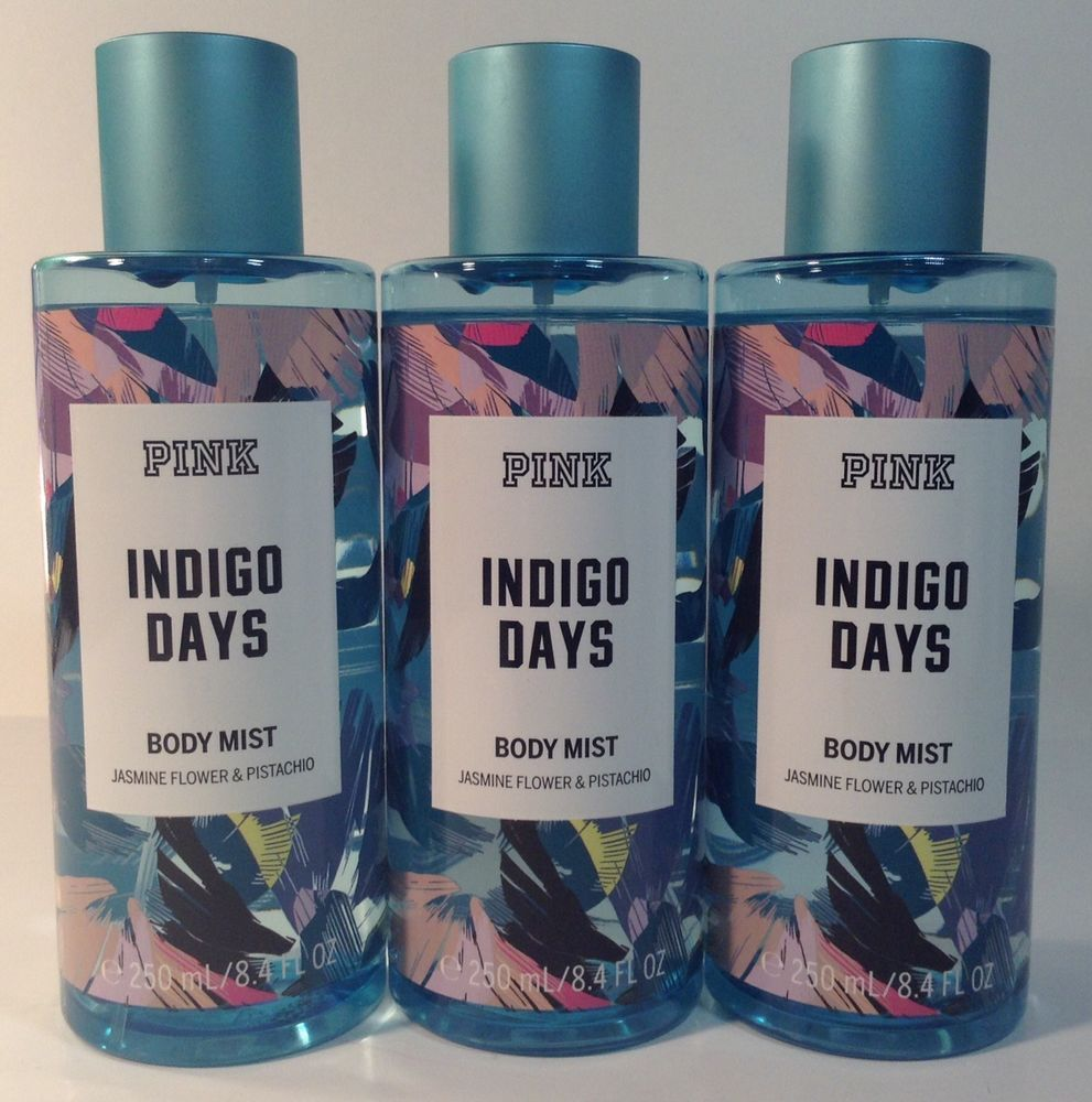 3 Victoria S Secret Pink Indigo Days Jasmine Flower Pistachio