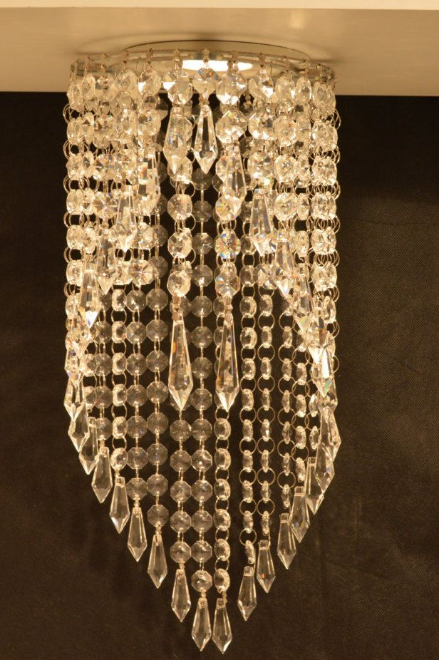 Luxe Crystal Chandelier Pendant Recessed Light Garbo Magnetic Clip On Ceiling Fixture By Crystalfixture Etsy