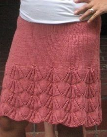 Схемы вязки на спицах юбок