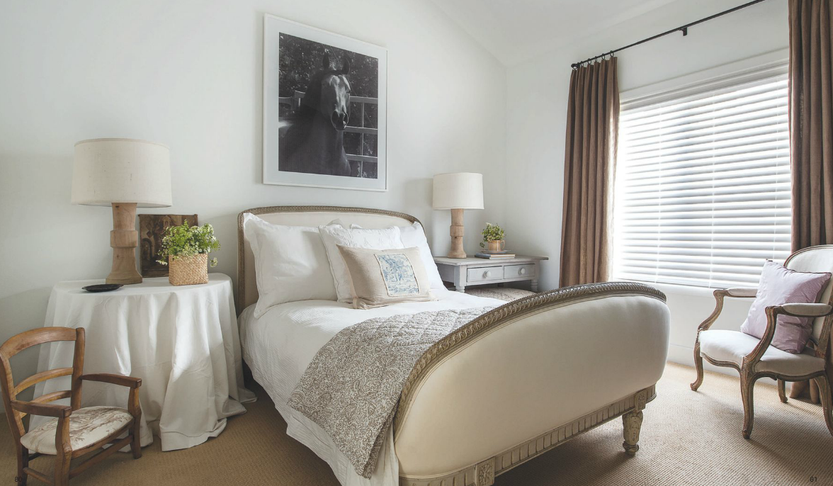Another bedroom in Ginger Barber's townhome.
