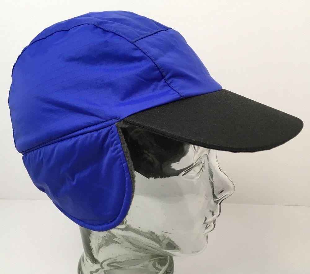 Vintage LL Bean Winter Hat GoreTex Primaloft Insulated Ripstop Nylon Blue  Small  LLBean  BaseballCap 428c4d914ce3
