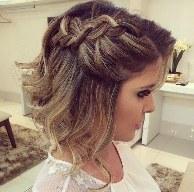 Ideen Von Frisuren Fur Eine Hochzeit Gast Mit Kurzen Haaren Fur