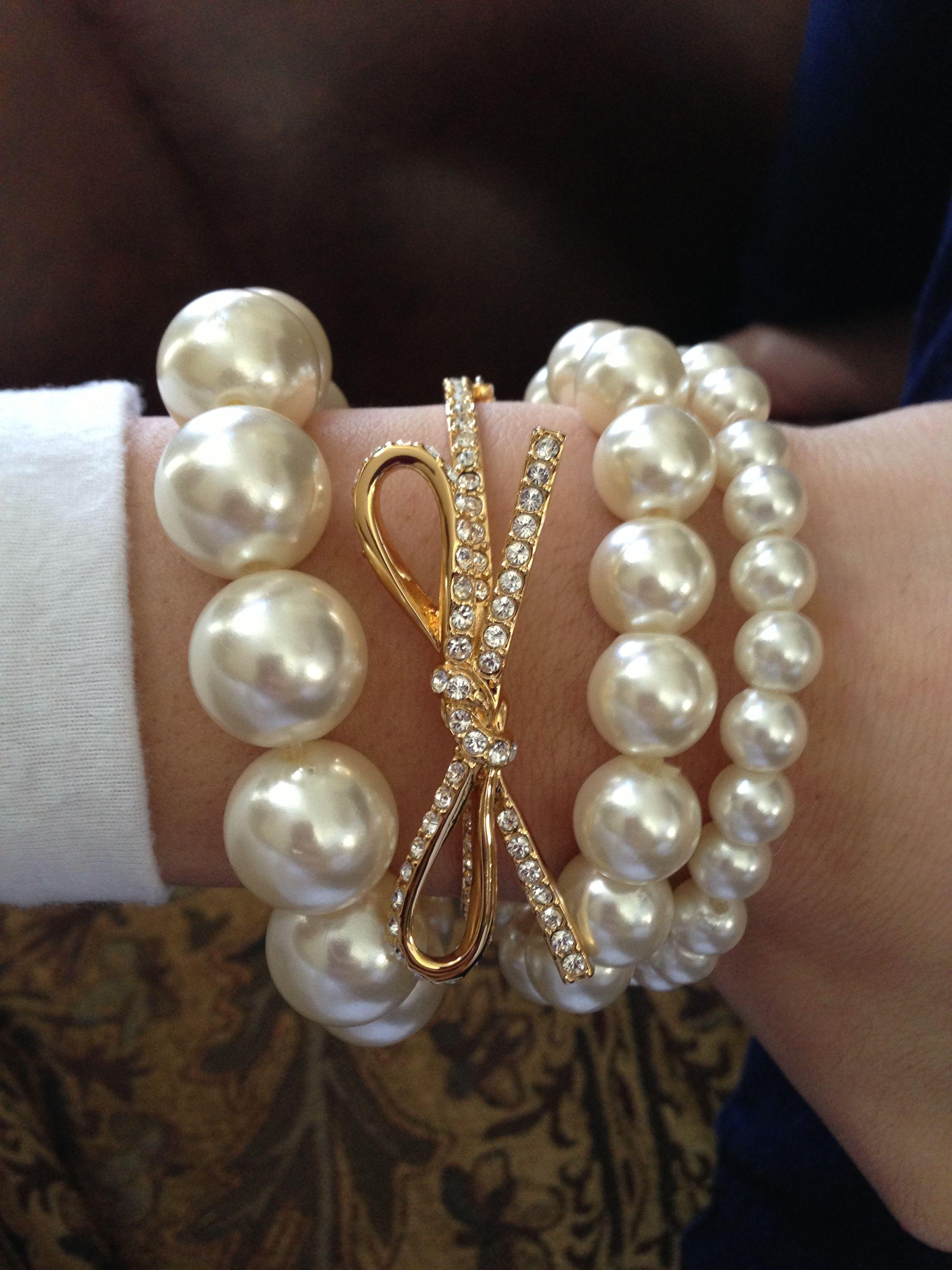 Gold pearls u diamonds oh my bracelets pinterest gold pearl