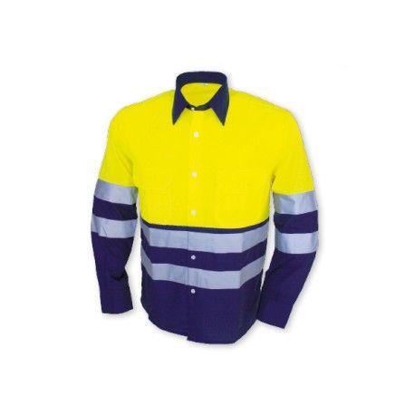 de923456657 Camisa Manga Larga Combinada Alta Visibilidad Referencia 1203 Marca:  Chintex 2 bolsillos en pecho con tapeta de cierre de velcro. Cuello en  mismo color que ...