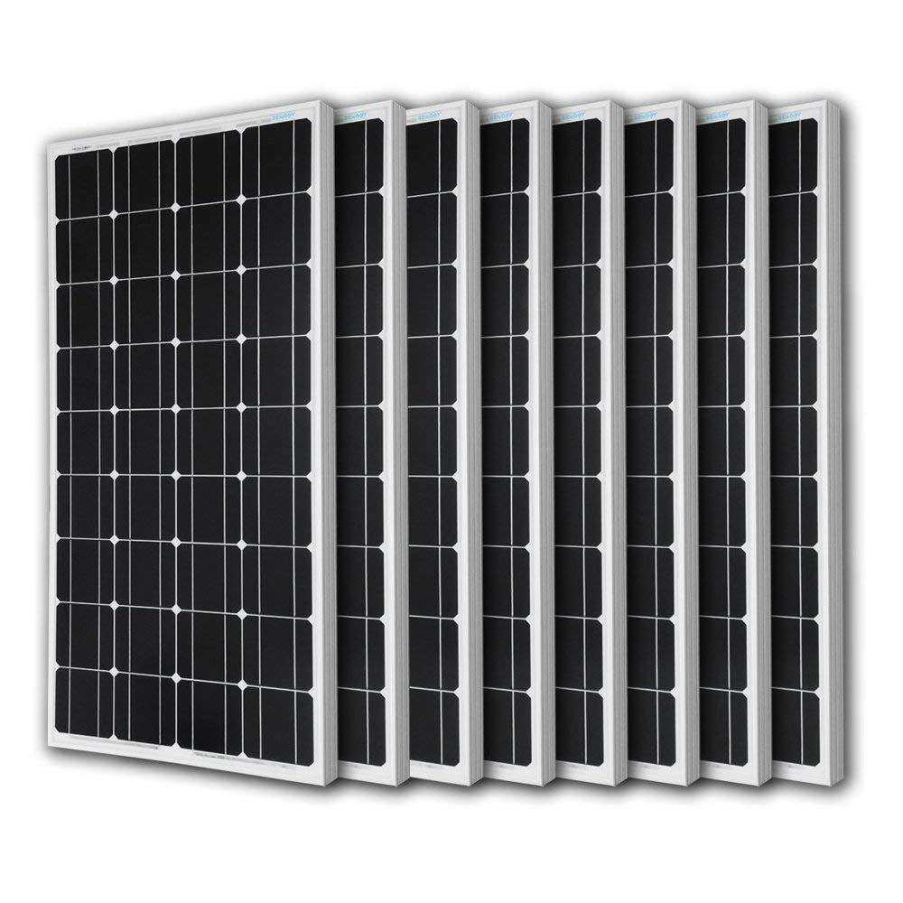 Renogy 8pcs 100 Watt 100w Monocrystalline Photovoltaic Pv Solar Panel Module 12v Battery Charging Solar Pv Panel Solar Panels Solar Pv