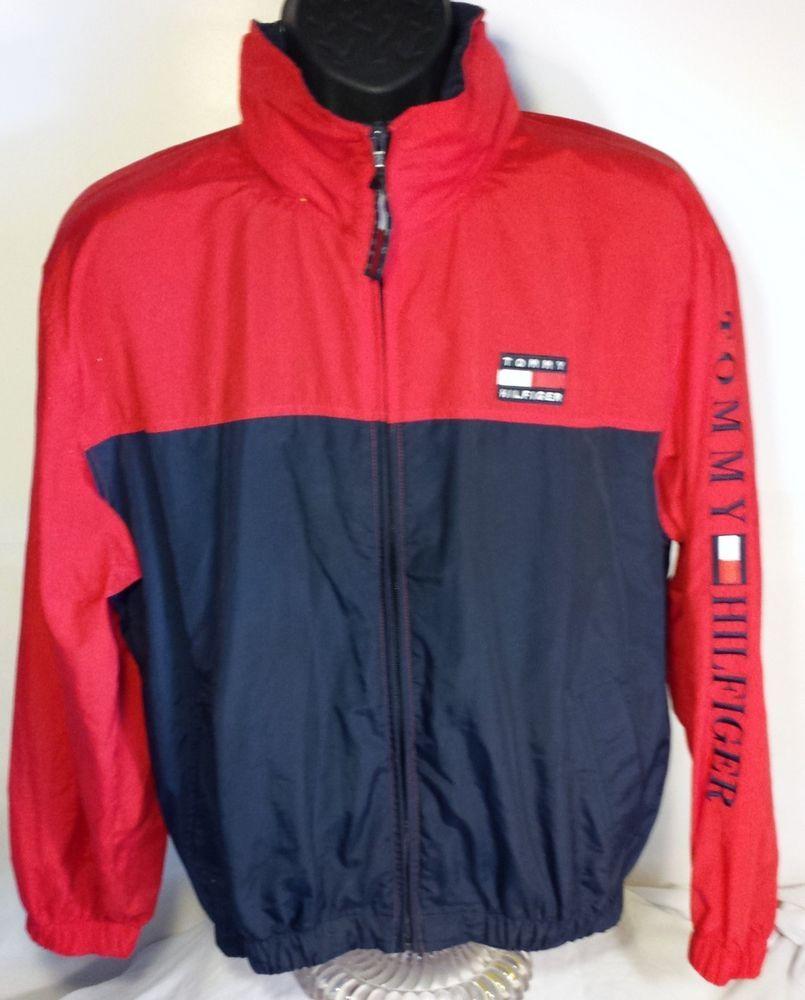 605892580ad Vintage Tommy Hilfiger Mens Size Extra Large Lightweight Jacket   TommyHilfiger  Windbreaker