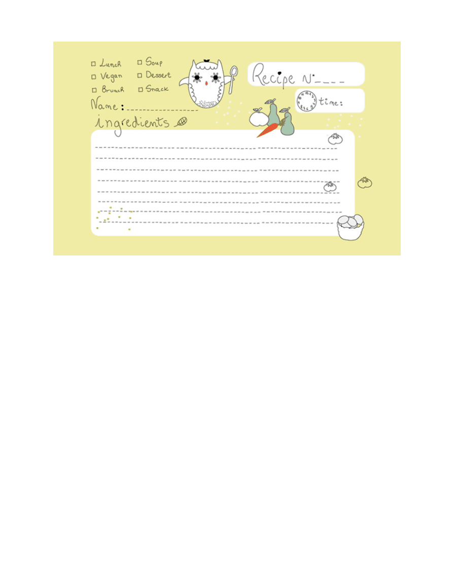 free recipe cards owl.pdf | For the Kitchen | Pinterest