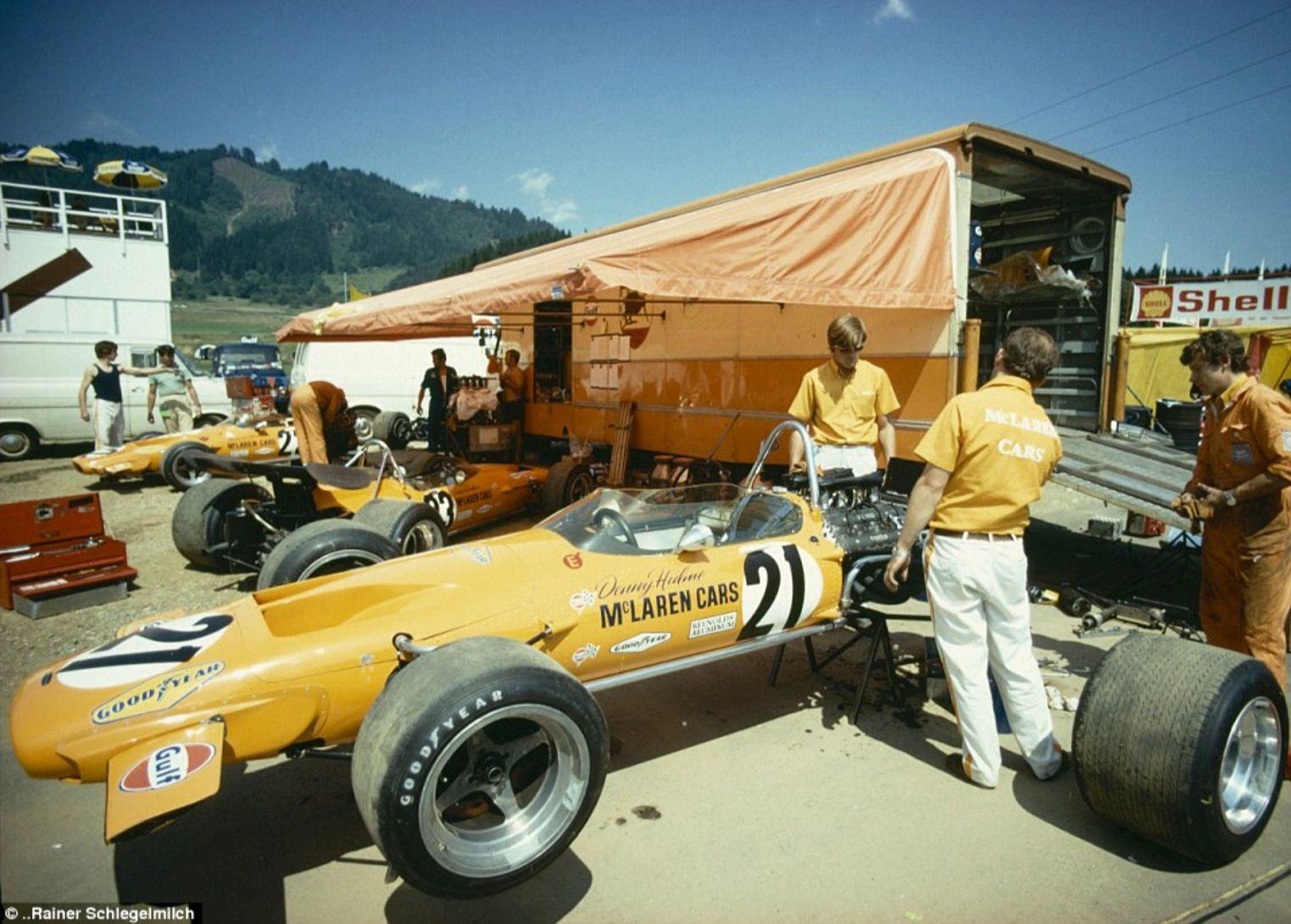 Austrian Gp Osterreichring Denny Hulme And Peter Gethin