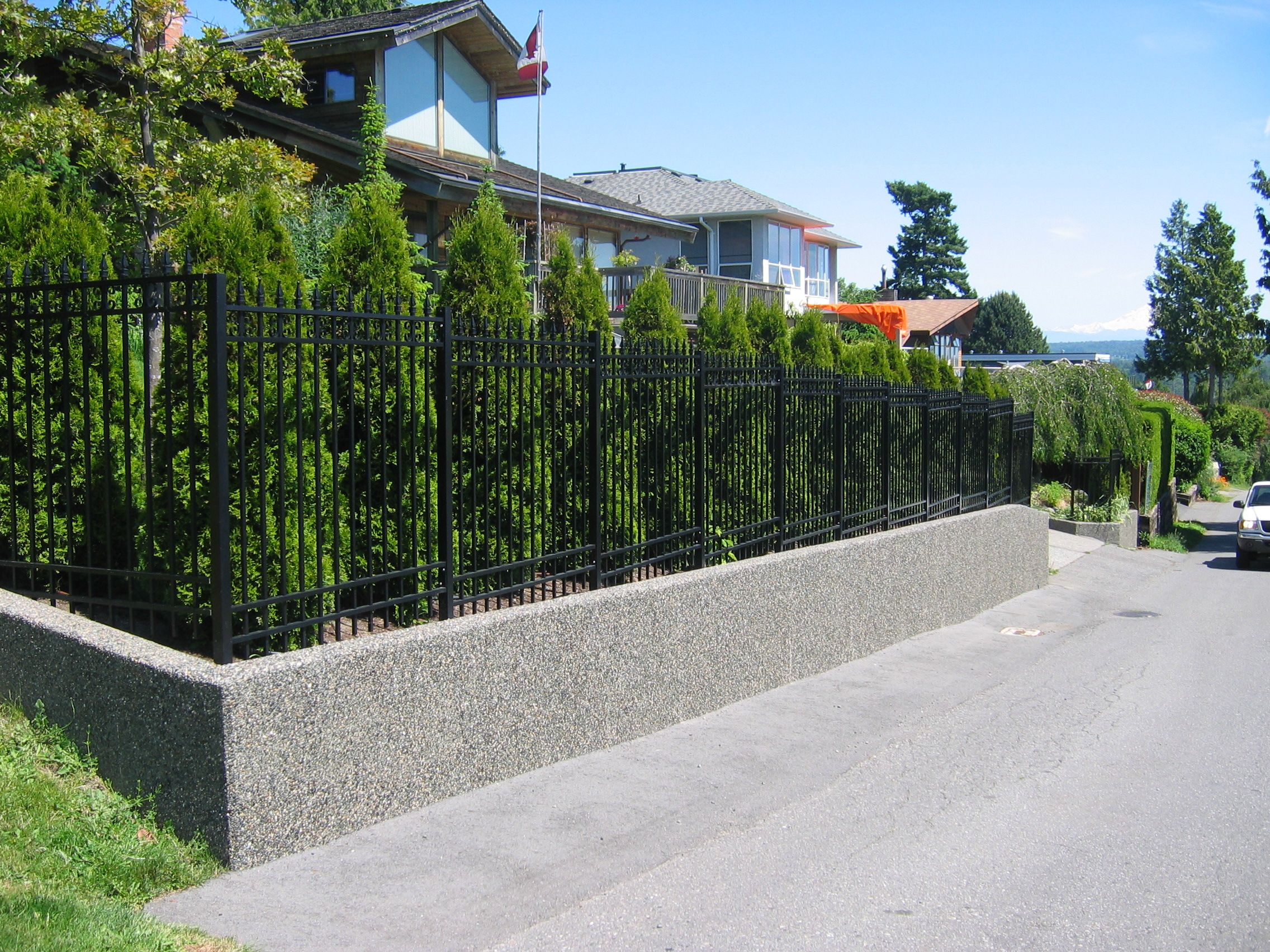 Exposed Aggregate Concrete Wall Avante Residential