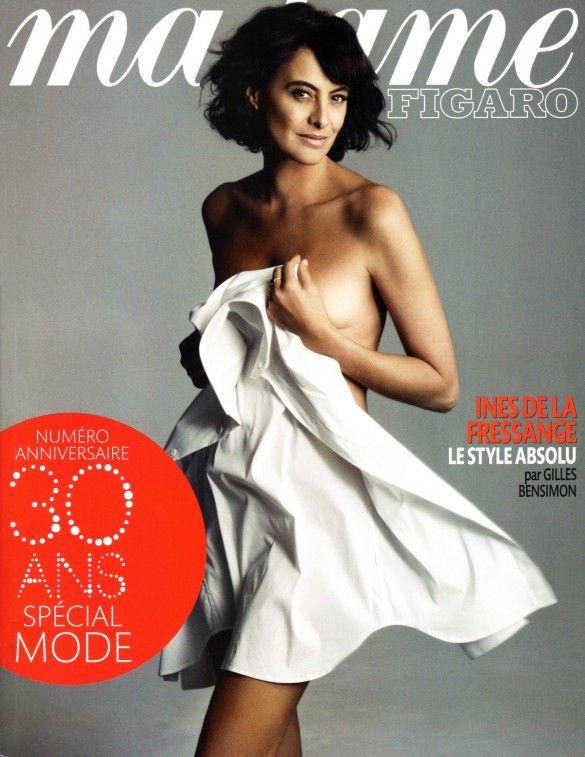 Inès na capa da Madame Figaro aos 53 anos de idade. Uau!