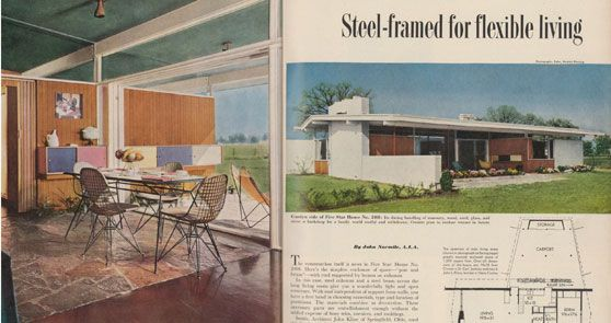 A 1954 Better Homes and Gardens Mid-Century Modern Magazine Spread ...