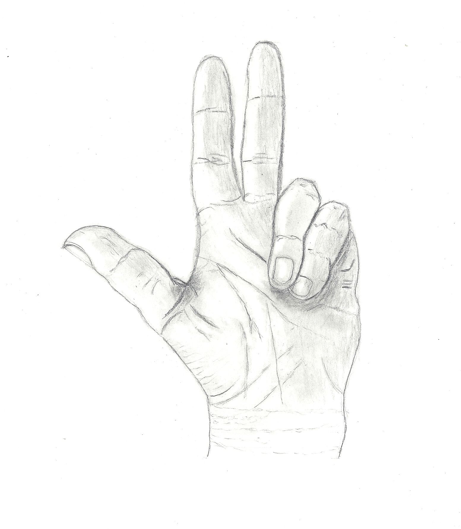 kezem-grafit rajz