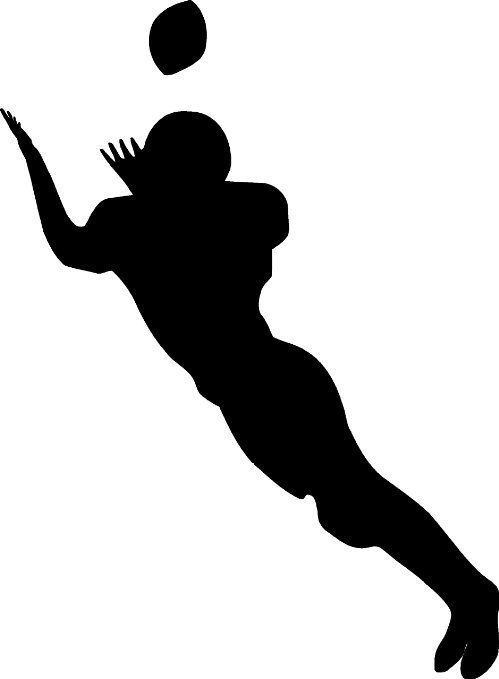 football wall sticker decal sports silhouette decoration mural 12 in black