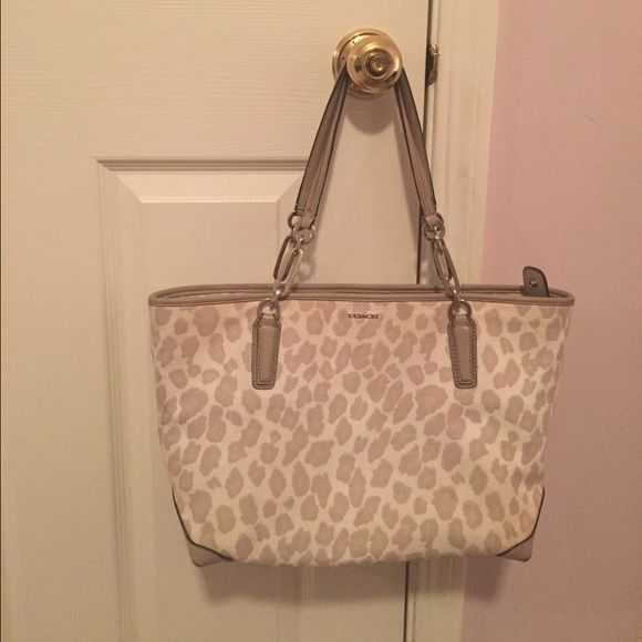 abefa24b4fa Another PRICE DROP Leopard Authentic Coach Tote This leopard bag is ...