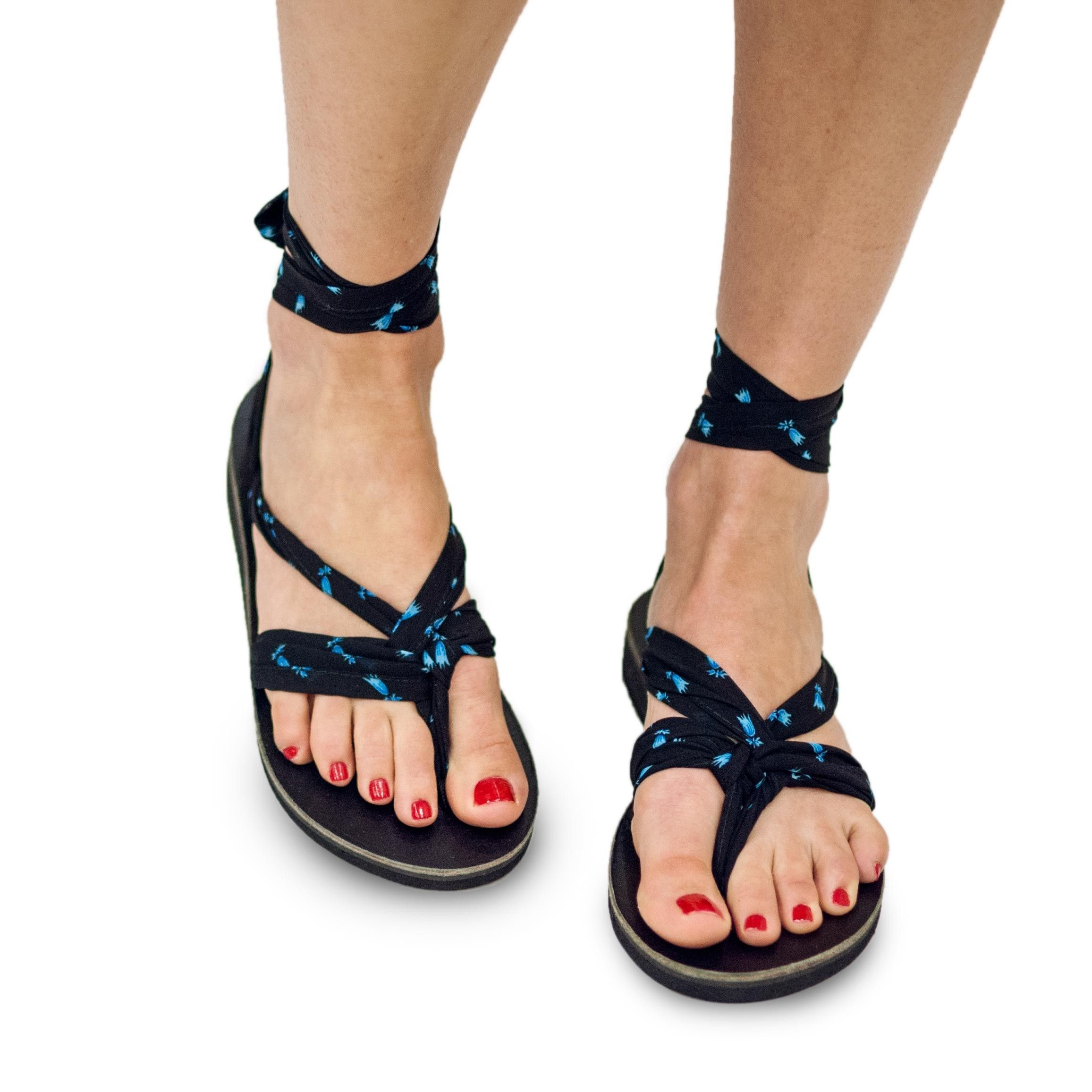Black ribbon sandals - The Majorette Chiffon Sandal Ribbons Are Soft Black Chiffon Ribbons With A Blue Floral Design That Can Be Paired With Any Sseko Ribbon Sandal