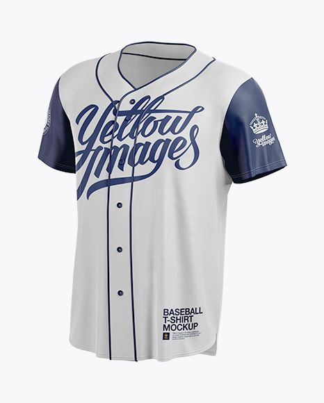 Men S Baseball Jersey Mockup Halfside View Preview
