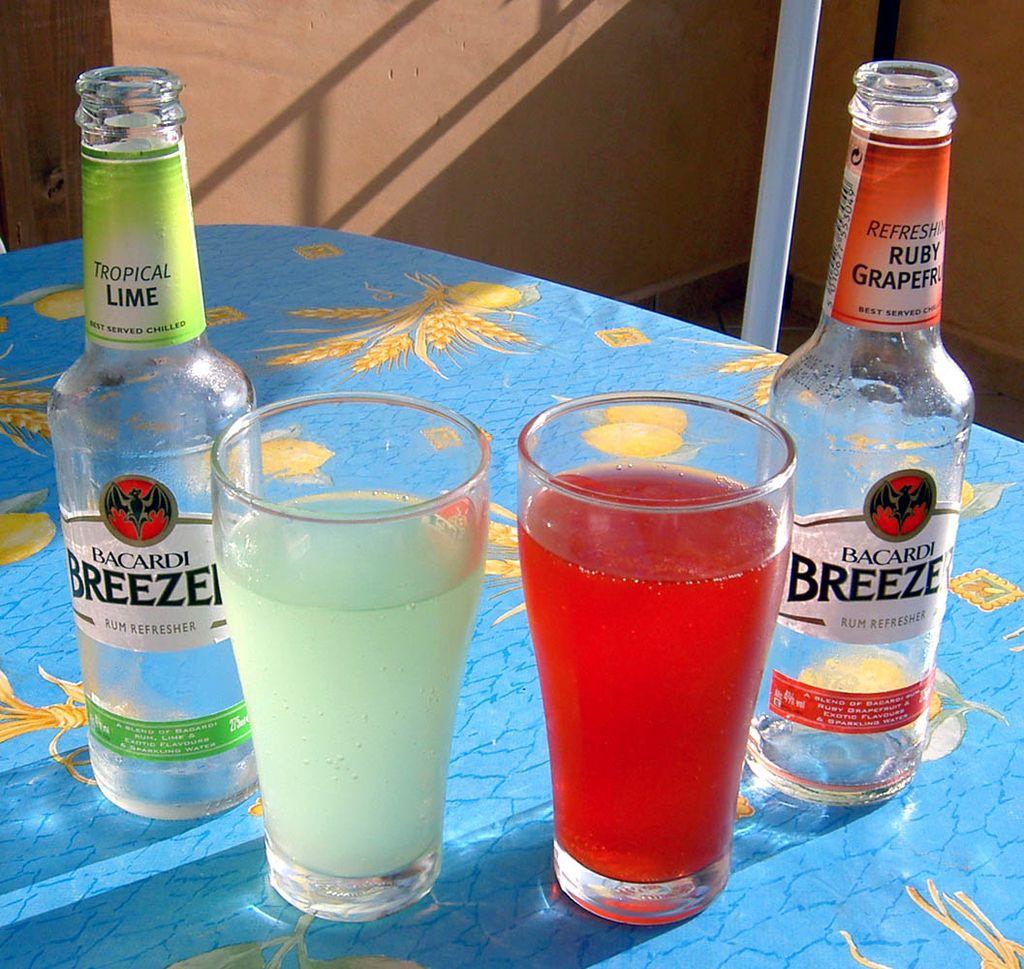 Bacardi Breezer Alcoholic Drinks Smirnoff Alcohol