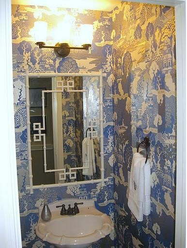 Curtains Ideas chinoiserie curtains : white greek key mirror, summer palace wallpaper, chinoiserie ...