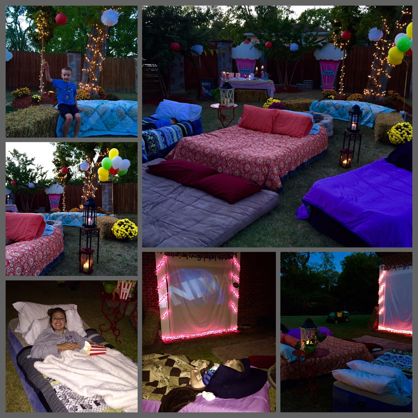 Ideas For Backyard Parties: Outdoor Movie Projector Decor Ideas
