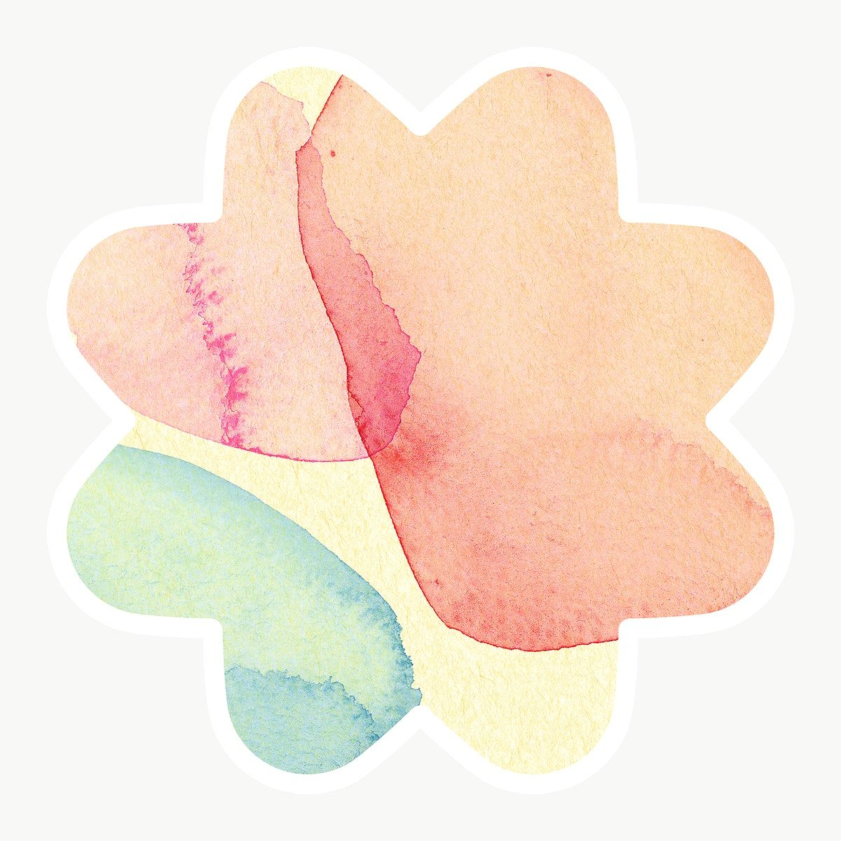 Colorful Flower Shaped Badge Design Element Free Image By Rawpixel Com Wan Watercolor Flowers Pattern Badge Design Vector Flowers