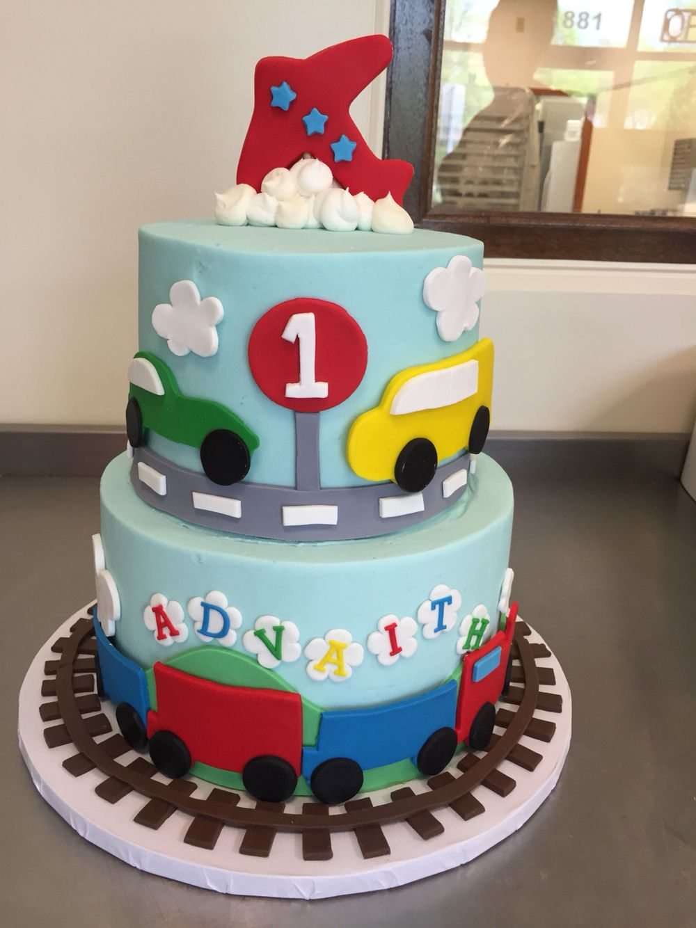 Planes, trains, and automobiles cake Train birthday cake