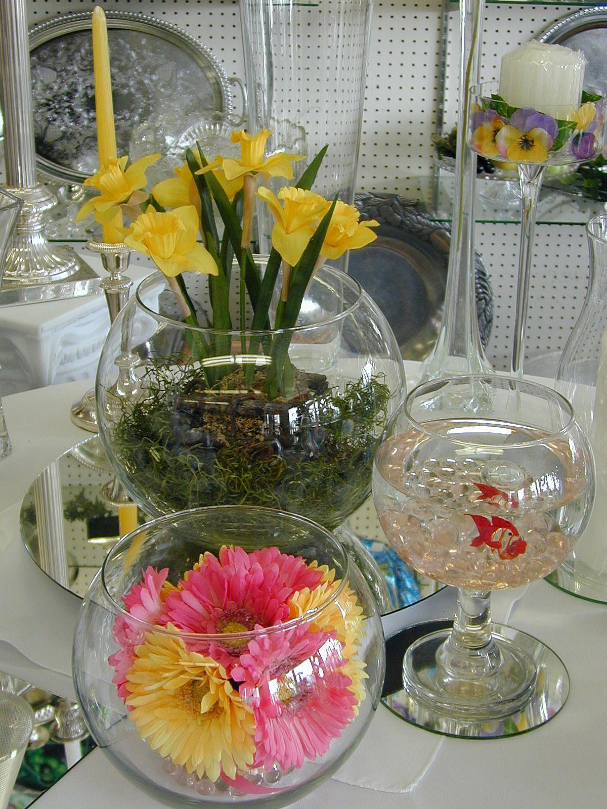 Martini Glass Centerpiece Ideas Brandy Snifter Centerpieces