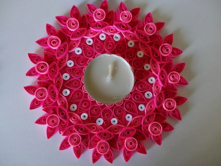 Paper Quilling For Home Decor Quilling Candle Holder
