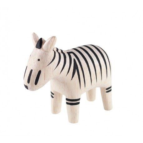 Holztier Holzfigur Zebra aus Albizia Holz handgefertigt und handbemalt als Kinderzimmerdekortion im Online-Shop und in Leipzig kaufen