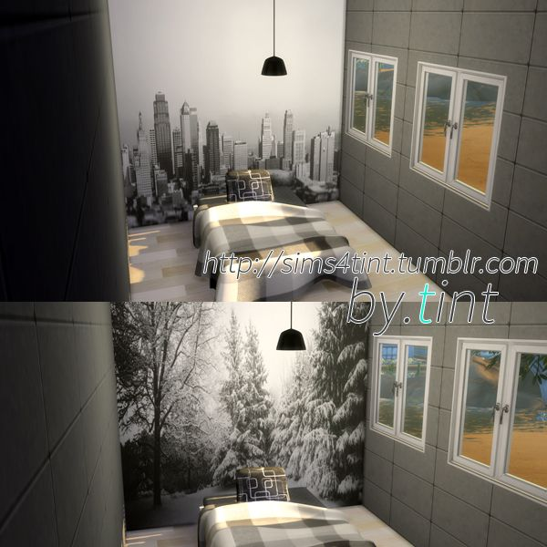 Sims 4 CC's - The Best: Scenery Wallpaper by Sims4Tint