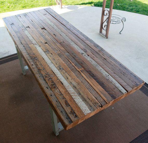 Custom Outdoor Indoor Rustic Industrial Reclaimed Wood Dining