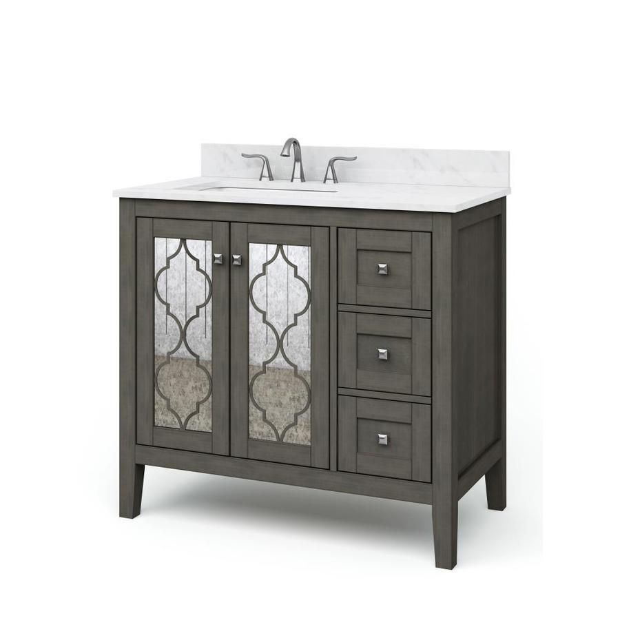 Allen Roth Everdene Grey 36 Undermount Single Sink Bathroom Vanity