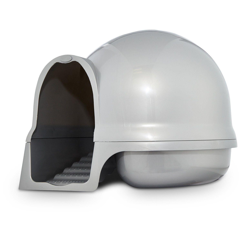 Booda Clean Step Litter Box in Pearl Dove Litter box and Cat