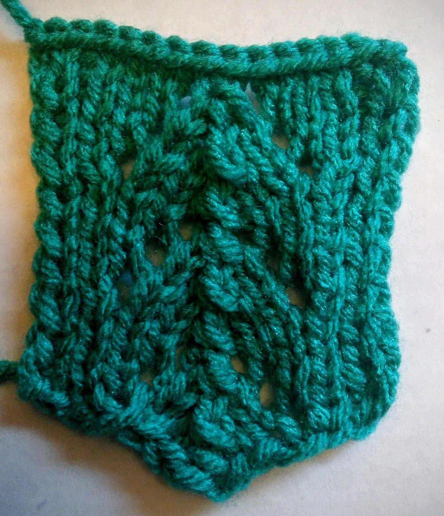 May 2, Fishtail Lace Panel | 365 Knitting Stitches (2016 ...