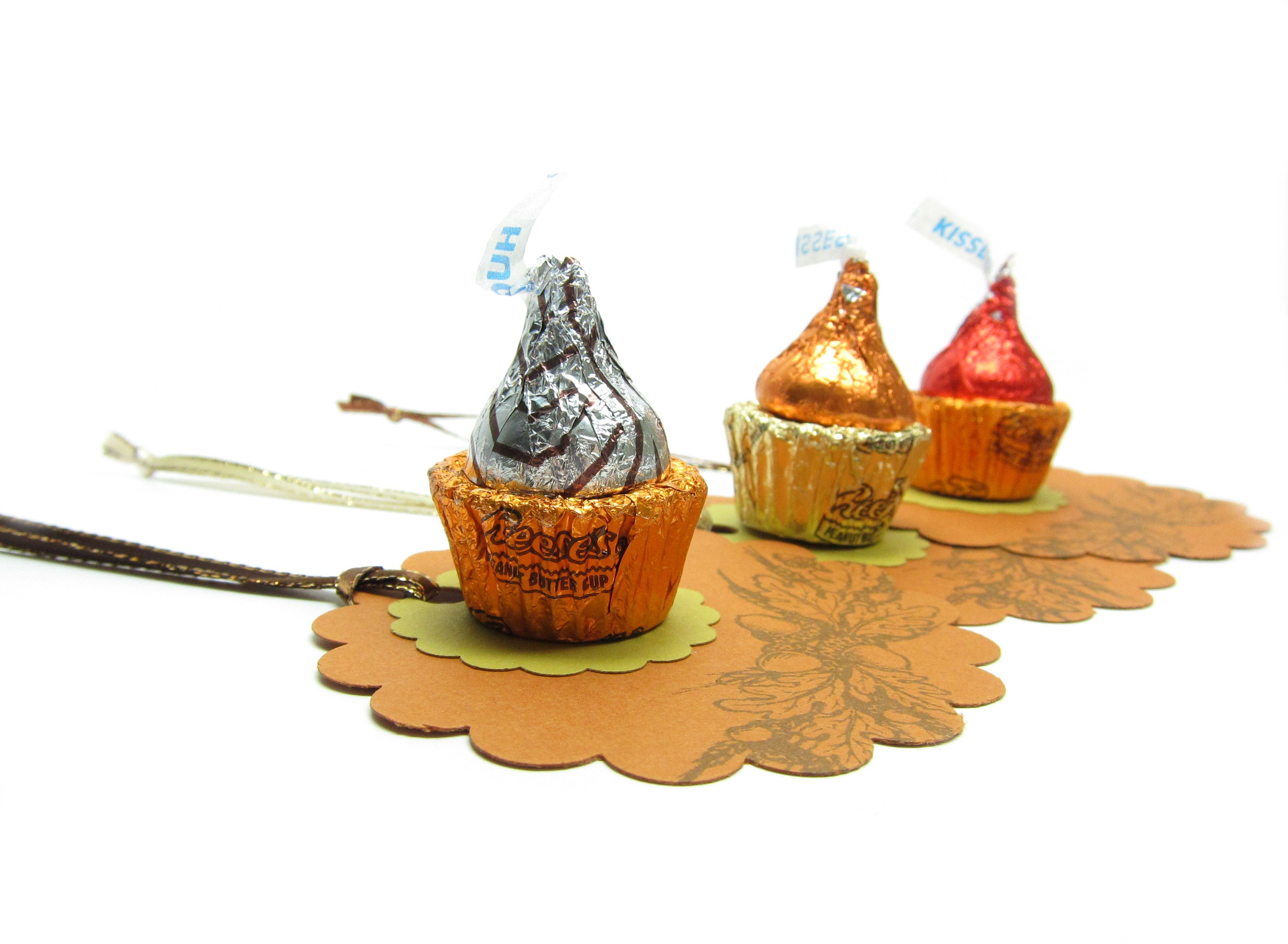 Autumn Gift Tags With Candy Cupcakesuse A Hersheys Kiss And
