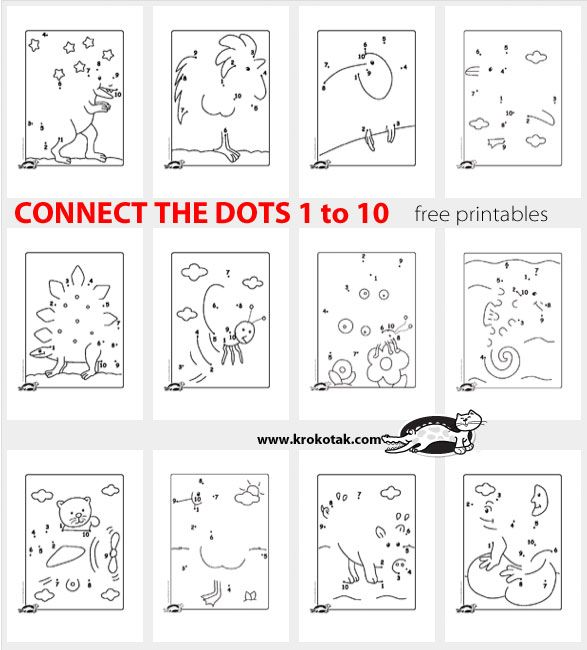 CONNECT THE DOTS 1 to 10 | education | Pinterest | Mathe ...