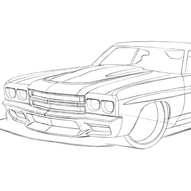 instagram post by kegan lubahn keganlubahn engine or body mods 1970 Impala Convertible awesome attention to detail from ragle design 70 chevelle pro touring rendering custom bumper ground effects body kit front line drawing spoiler