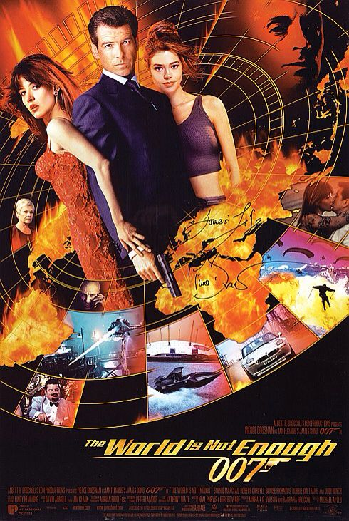 Poster From The Film The World Is Not Enough Bond Girls Pierce