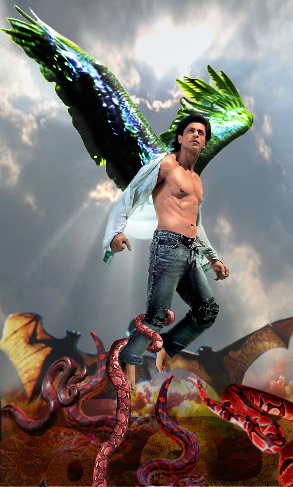 Image result for shahrukh fan art