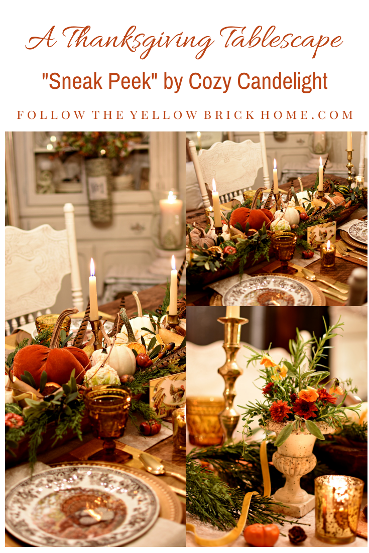 Follow The Yellow Brick Home - A Thanksgiving Tablescape Sneak Peek by Cozy Candlelight – Follow The Yellow Brick Home