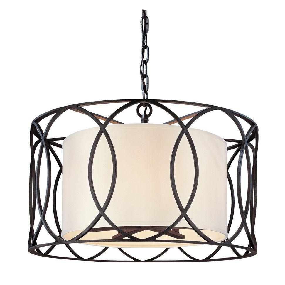 Sausalito Round Pendant By Troy Lighting F1285db Bronze
