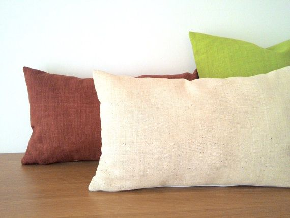 Hmong Handspun Solid Color Cotton Linen by HillTribesTreasures