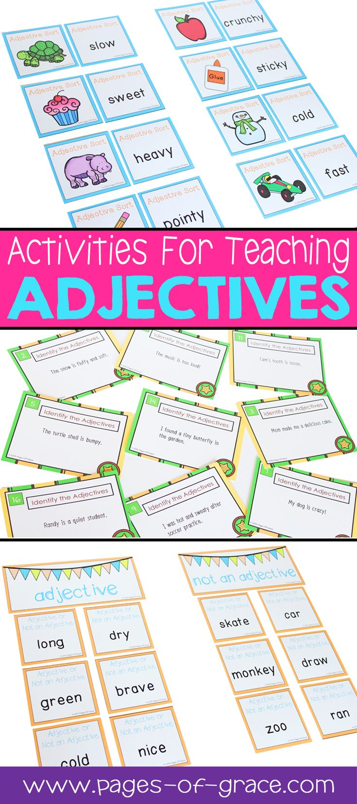 Are You Looking For Some Fun Ideas Activities For Teaching Adjectives This Unit Is Full Of Interactive Teaching Adjectives Adjectives Adjectives Activities [ 1656 x 735 Pixel ]