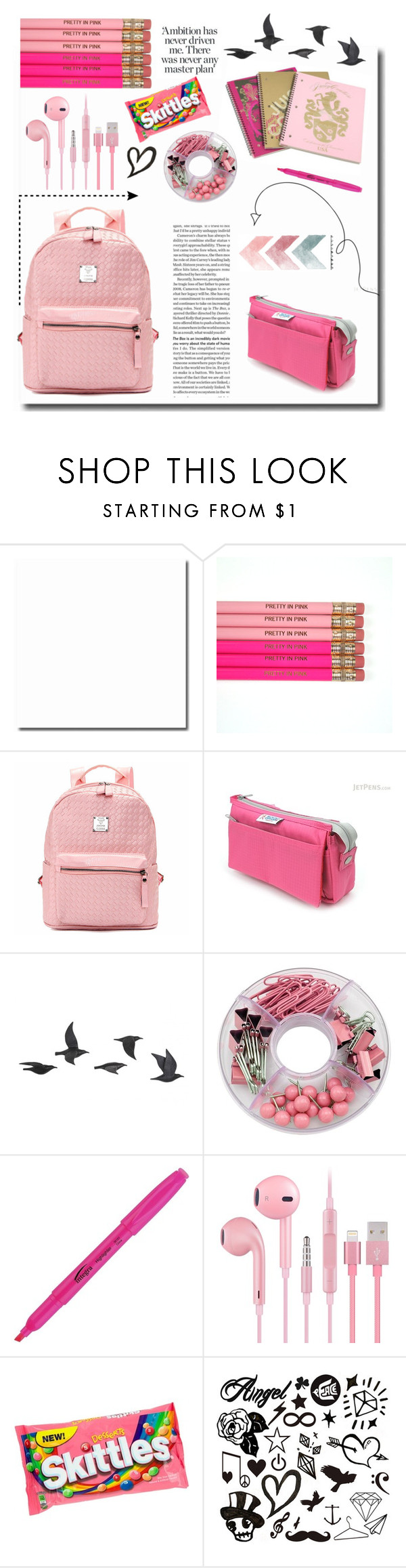 """""""Untitled #38"""" by emmalochaden ❤ liked on Polyvore featuring Juicy Couture, Jayson Home, backpacks, contestentry and PVStyleInsiderContest"""