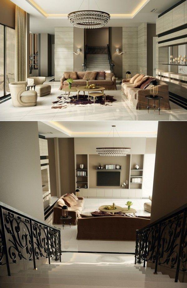 Salons modernes remarquables - 25 beaux exemples | Main door, Deco ...