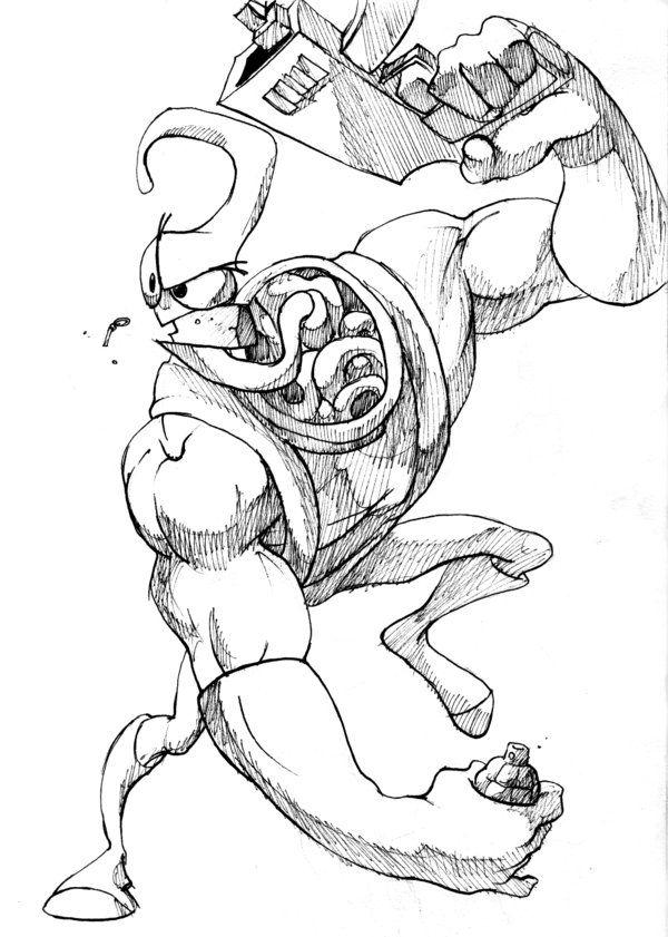Pin By Briaian Rojas On Jim Lonbris Earthworm Jim Character Drawing Drawings