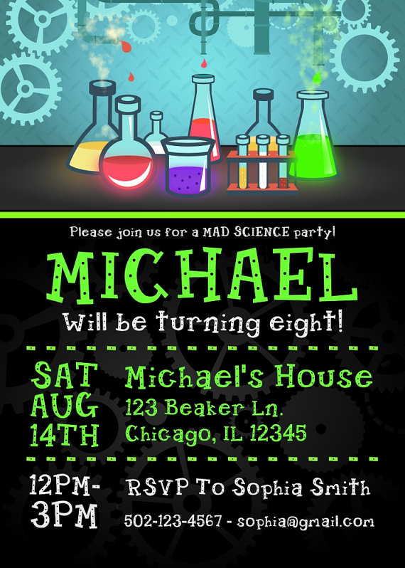 science party invitation mad scientist invitations mad science