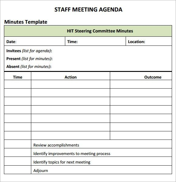 Staff Meeting Agenda Sample Conference Agenda A Format A Adobe