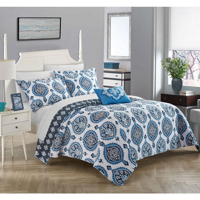 Chic Home Jolee Quilt Set Duvet Cover Sets Quilt Sets Blue